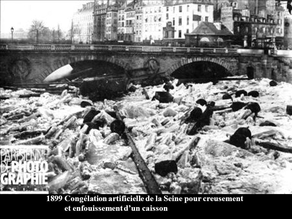 Congélation artificielle de la Seine pour creusement