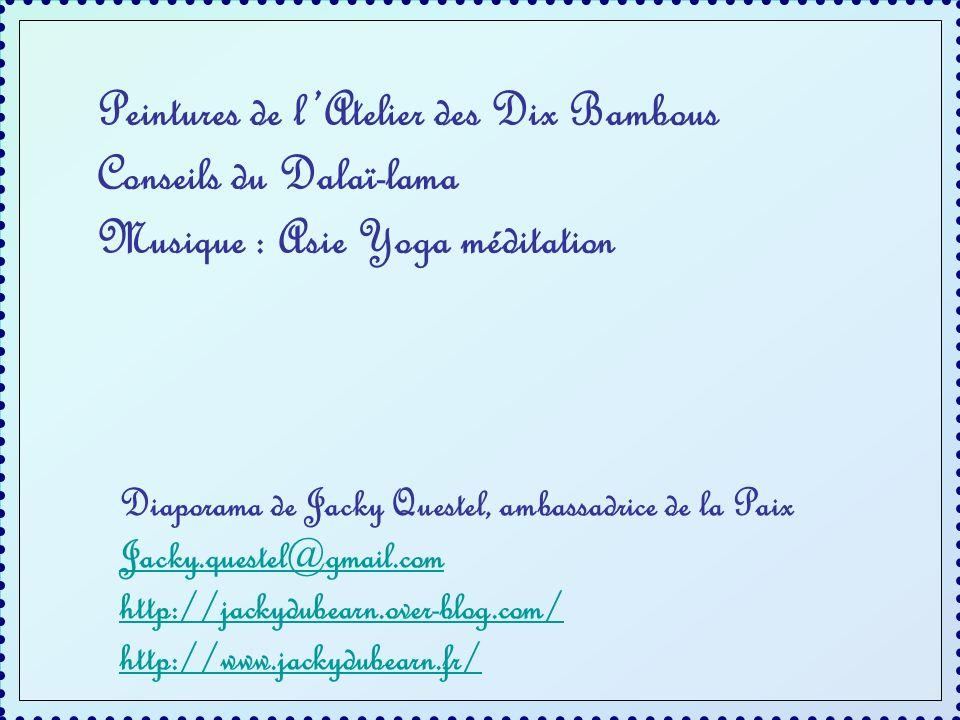 Peintures de l'Atelier des Dix Bambous Conseils du Dalaï-lama