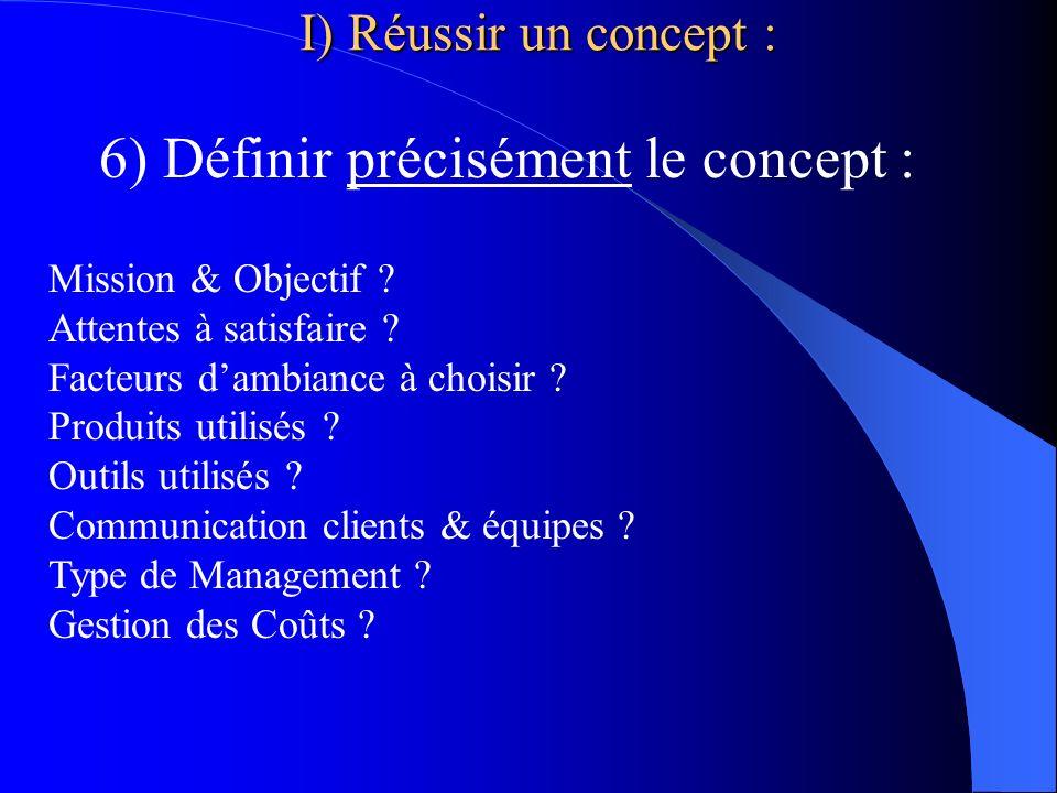6) Définir précisément le concept :