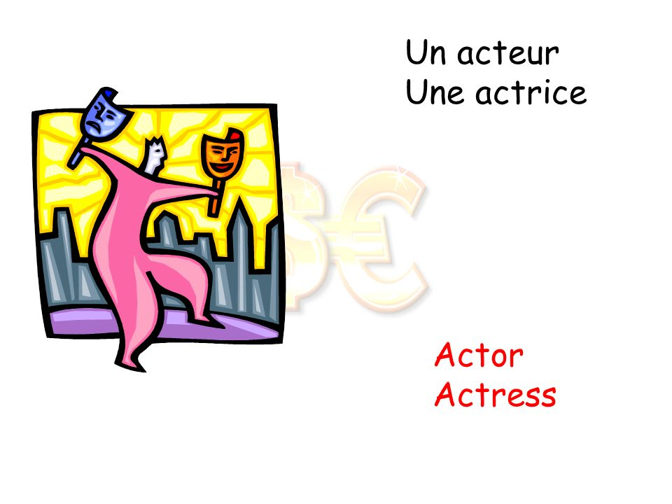 Un acteur Une actrice Actor Actress