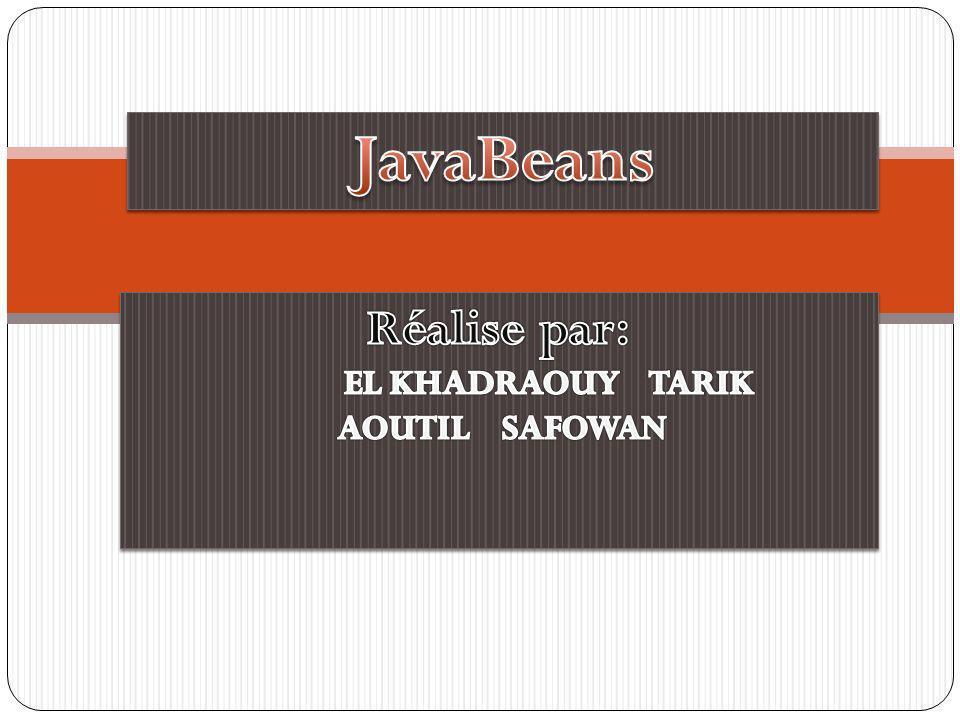 JavaBeans Réalise par: EL KHADRAOUY TARIK AOUTIL SAFOWAN