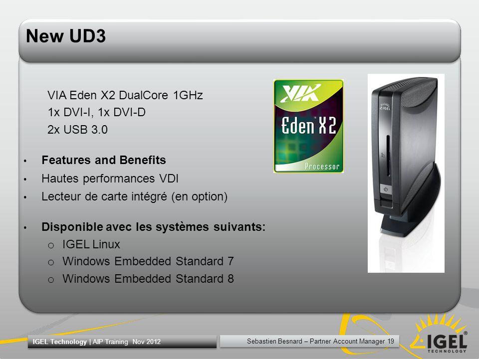 New UD3 VIA Eden X2 DualCore 1GHz 1x DVI-I, 1x DVI-D 2x USB 3.0