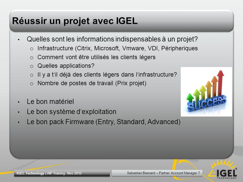 Réussir un projet avec IGEL