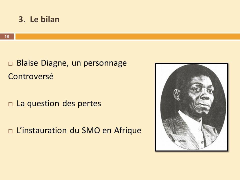 3. Le bilan Blaise Diagne, un personnage. Controversé.