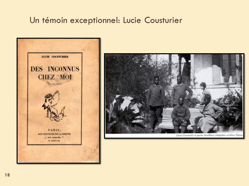 Un témoin exceptionnel: Lucie Cousturier