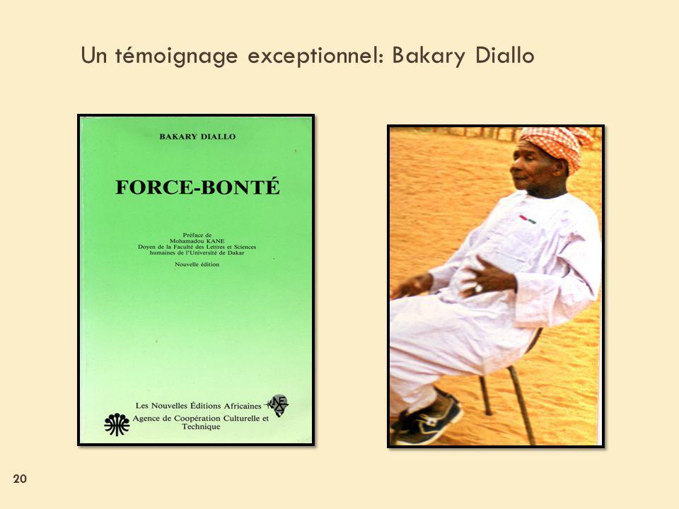 Un témoignage exceptionnel: Bakary Diallo