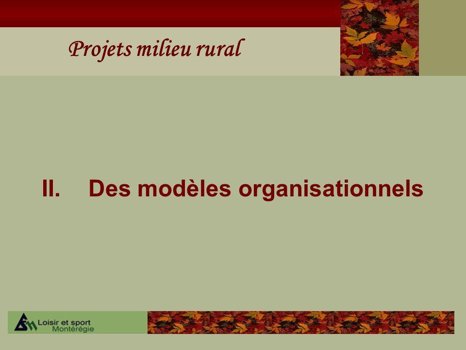 II. Des modèles organisationnels