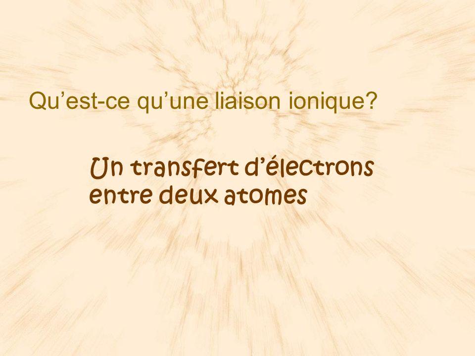 Qu'est-ce qu'une liaison ionique