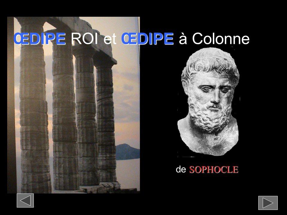 ŒDIPE ROI et ŒDIPE à Colonne