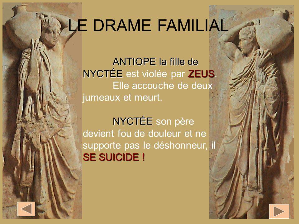 LE DRAME FAMILIAL ANTIOPE la fille de NYCTÉE est violée par ZEUS.
