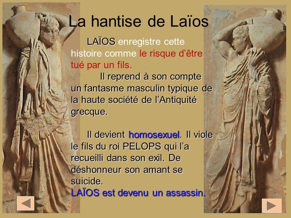 La hantise de Laïos LAÏOS enregistre cette histoire comme le risque d'être tué par un fils.