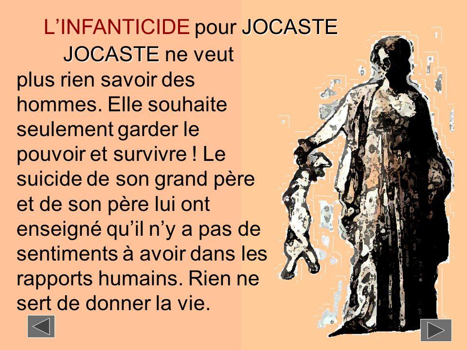 L'INFANTICIDE pour JOCASTE