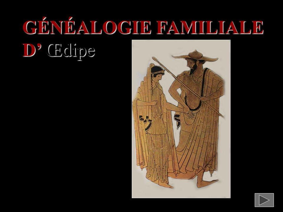GÉNÉALOGIE FAMILIALE D' Œdipe