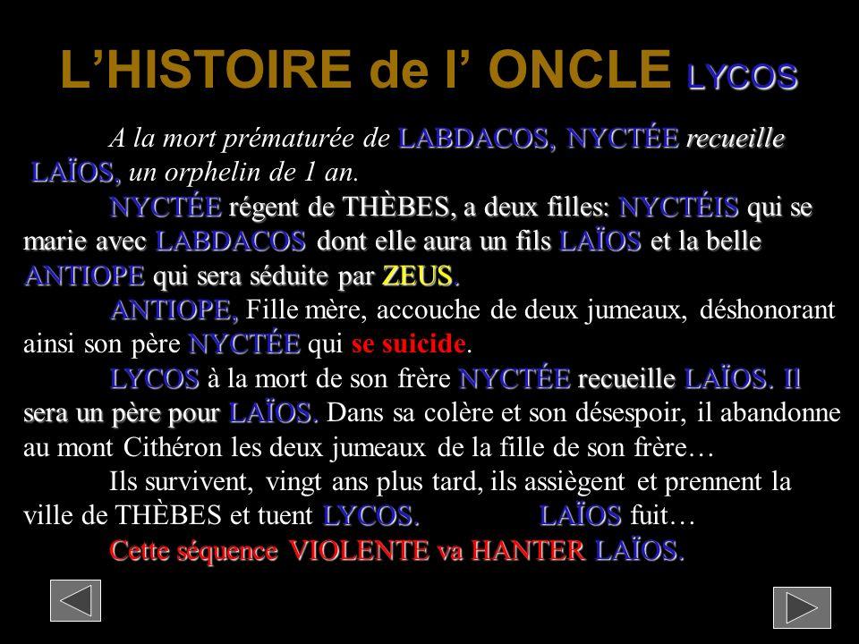 L'HISTOIRE de l' ONCLE LYCOS
