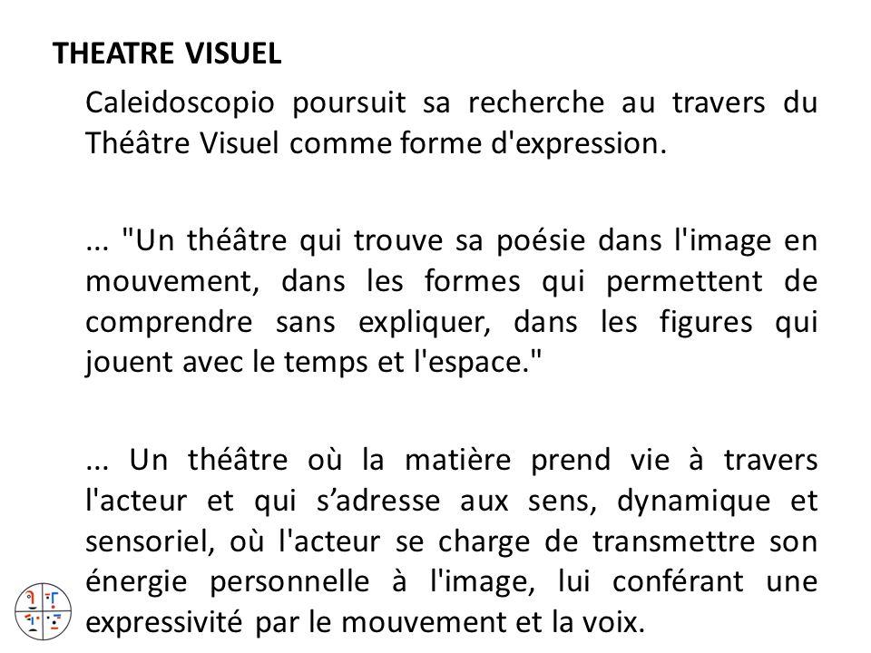 THEATRE VISUEL Caleidoscopio poursuit sa recherche au travers du Théâtre Visuel comme forme d expression.