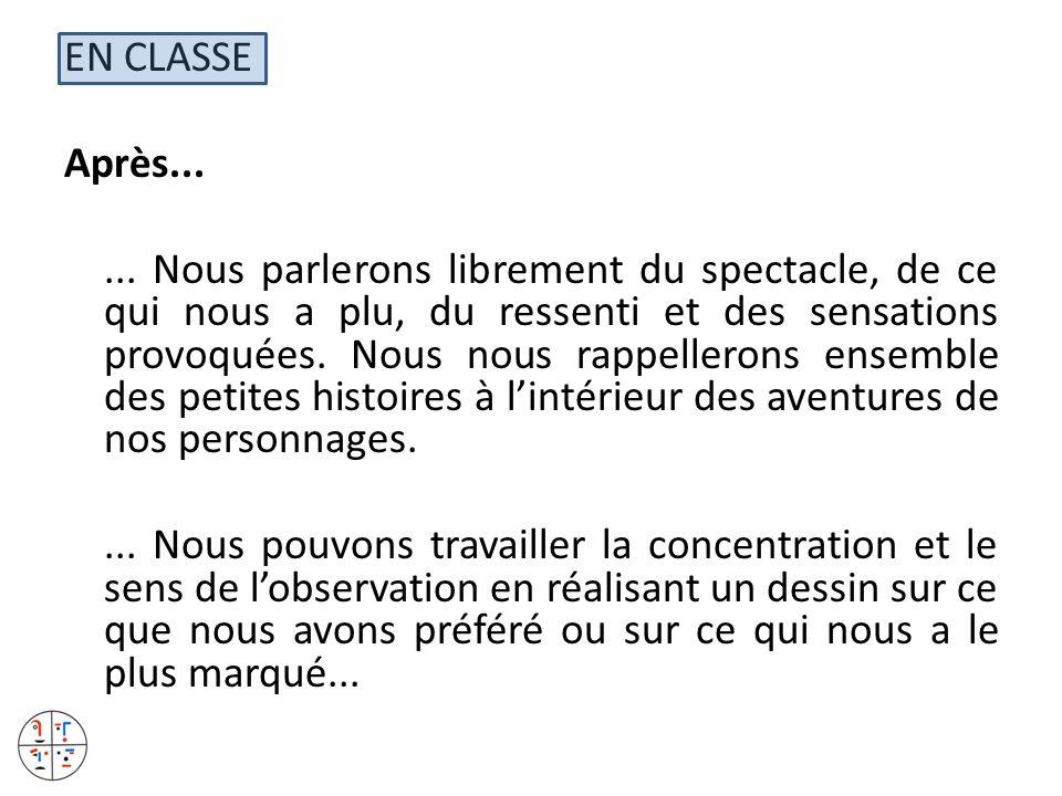 EN CLASSE Après... ...