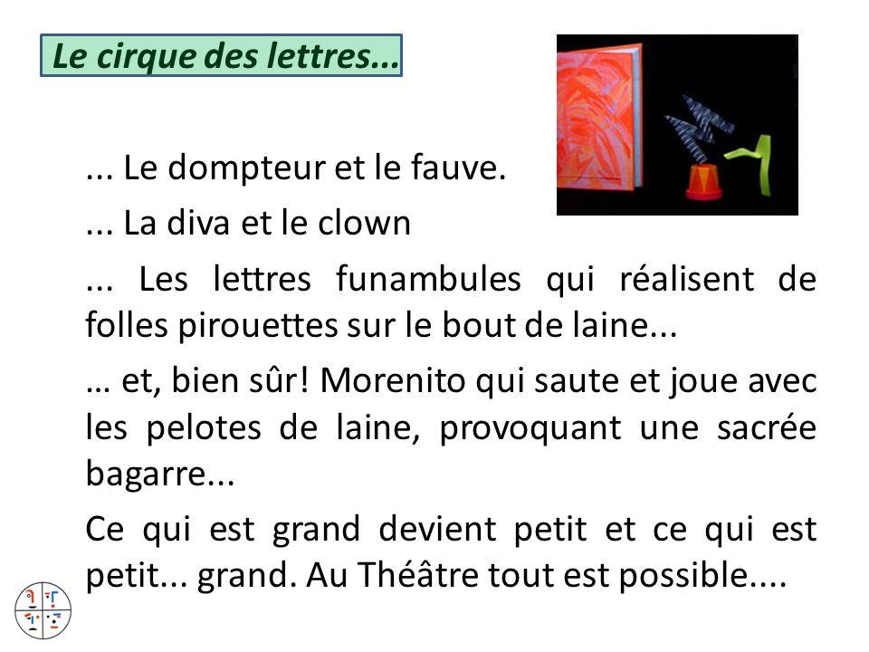 Le cirque des lettres. Le dompteur et le fauve. La diva et le clown