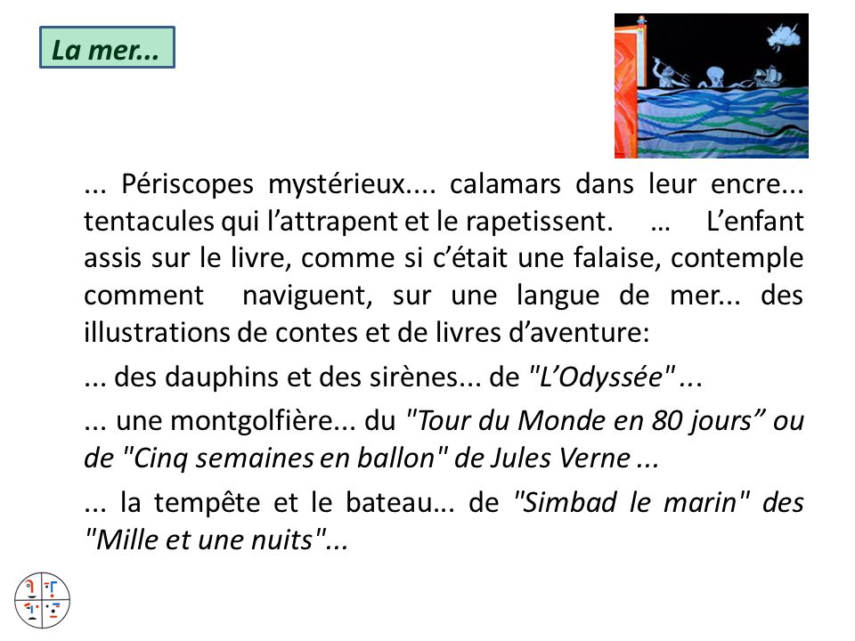La mer. Périscopes mystérieux. calamars dans leur encre