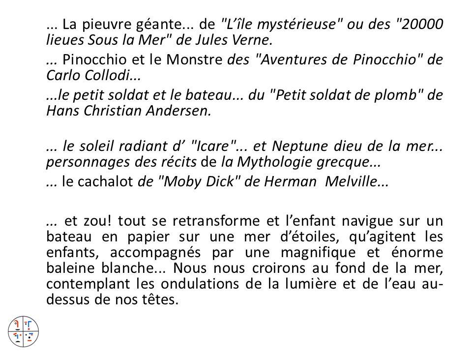 ... La pieuvre géante... de L'île mystérieuse ou des 20000 lieues Sous la Mer de Jules Verne.