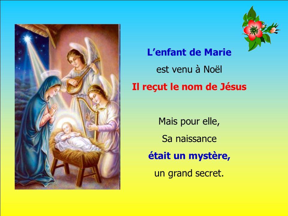 L'enfant de Marie est venu à Noël Il reçut le nom de Jésus