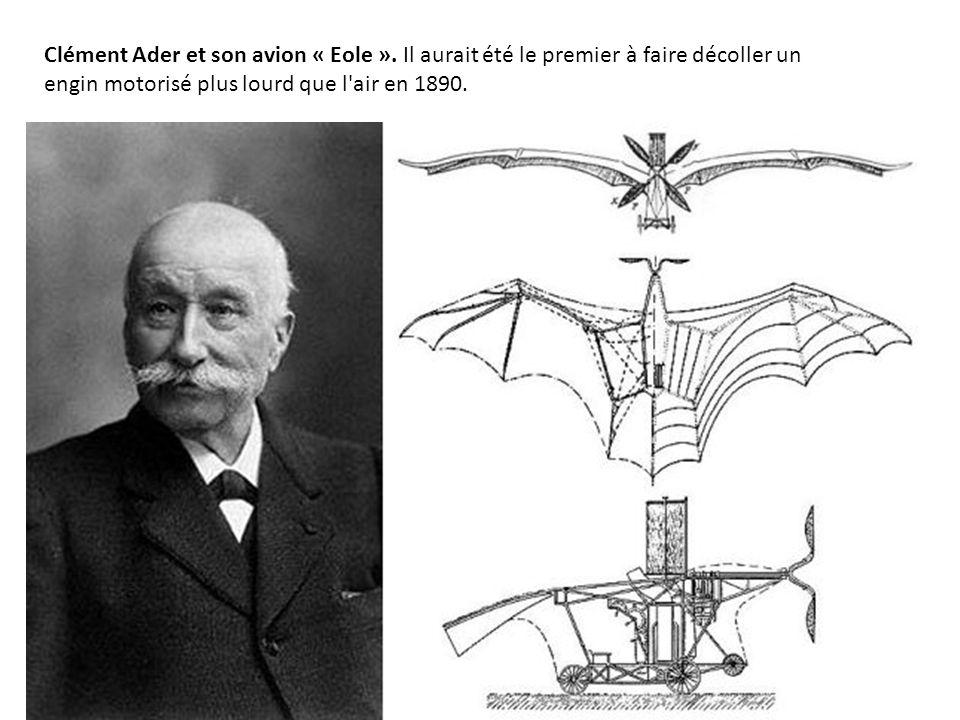 Clément Ader et son avion « Eole »