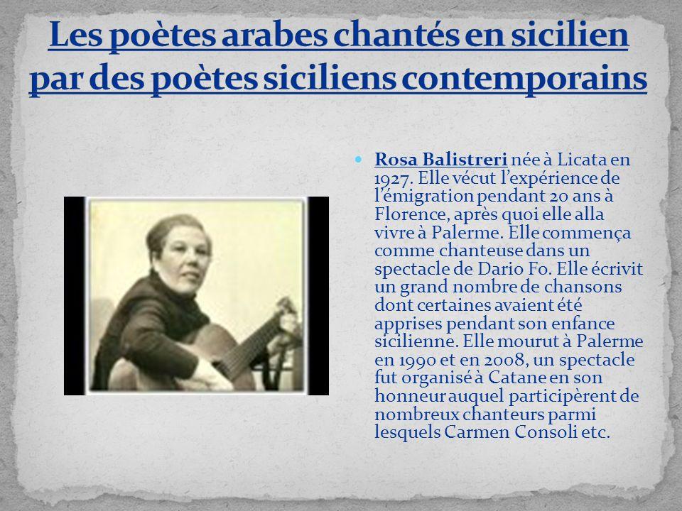 Les poètes arabes chantés en sicilien par des poètes siciliens contemporains