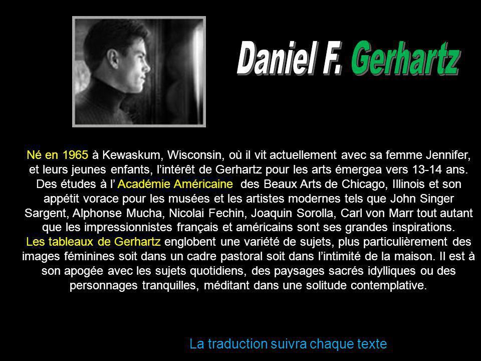 Daniel F. Gerhartz La traduction suivra chaque texte