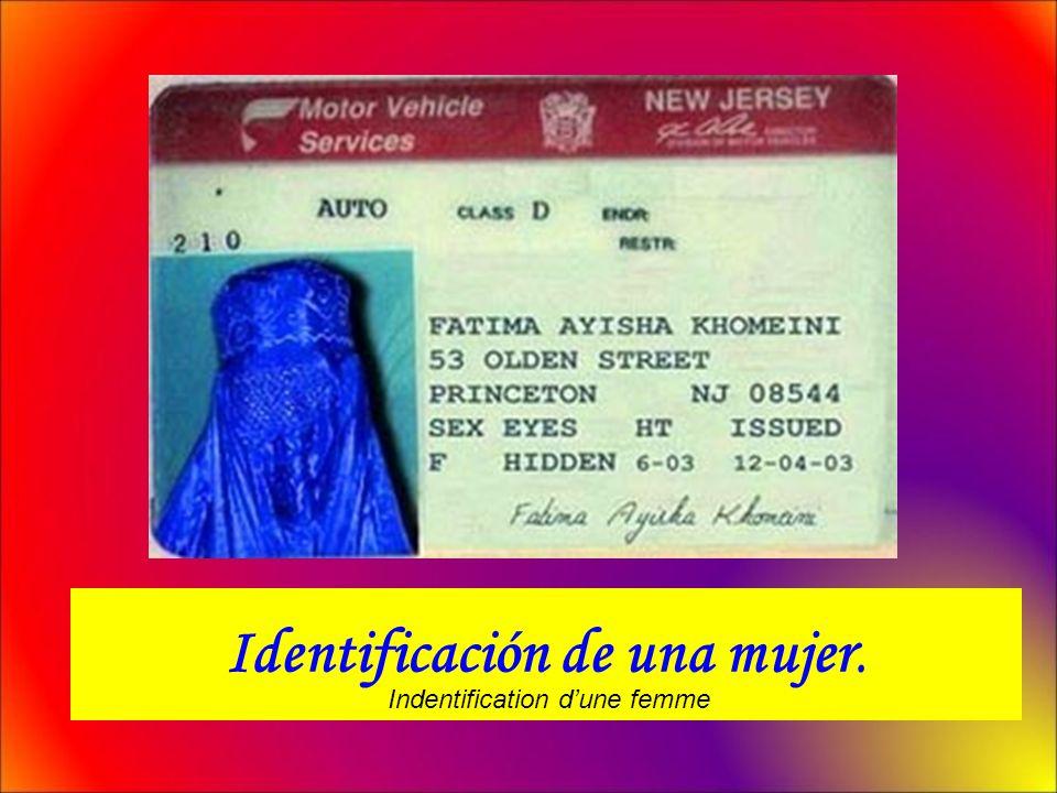 Identificación de una mujer.
