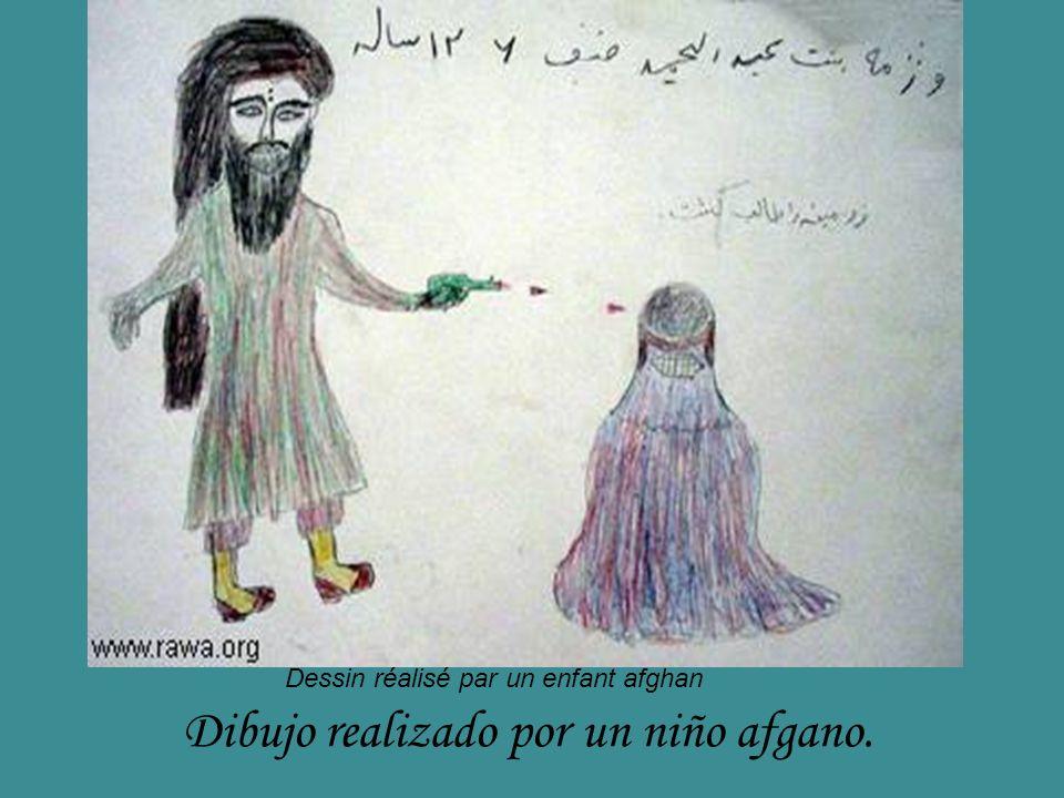 Dibujo realizado por un niño afgano.