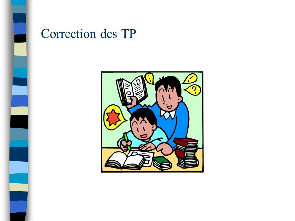 Correction des TP