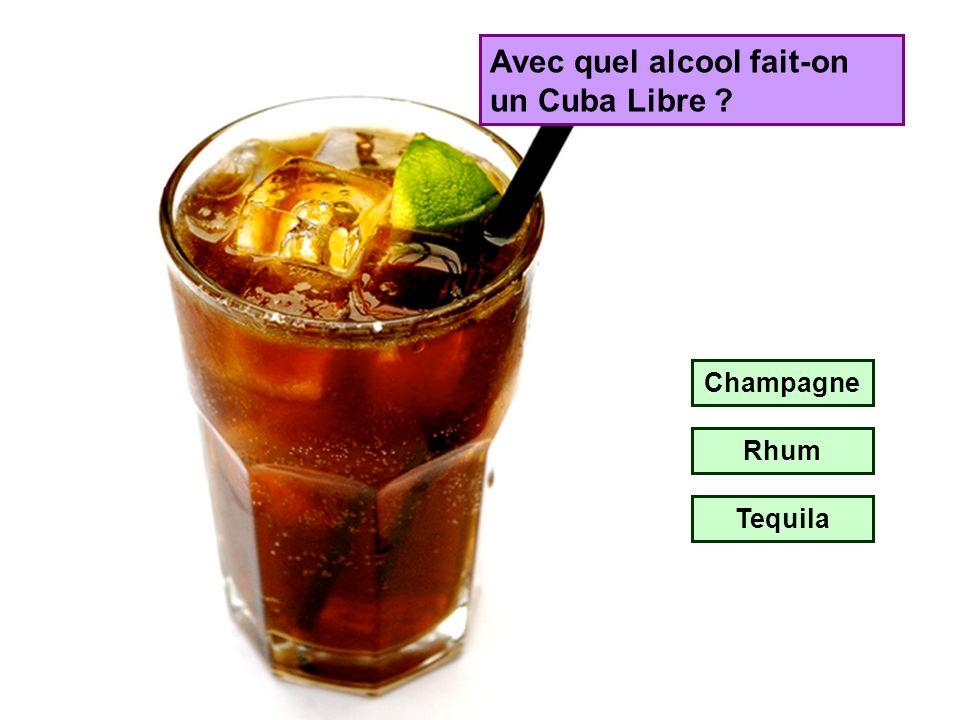 Avec quel alcool fait-on un Cuba Libre