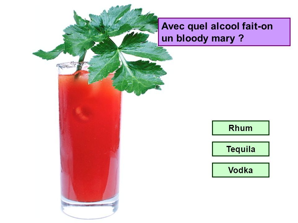 Avec quel alcool fait-on un bloody mary