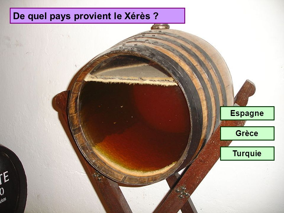 De quel pays provient le Xérès