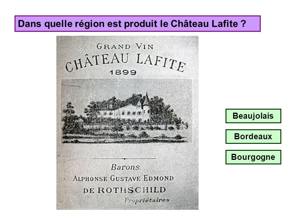 Dans quelle région est produit le Château Lafite