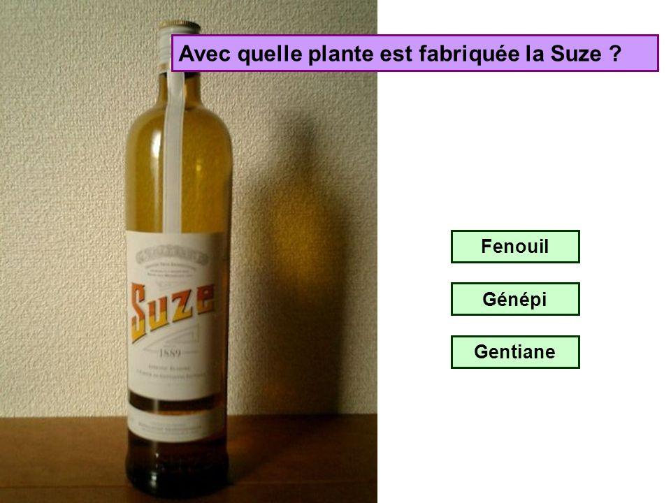 Avec quelle plante est fabriquée la Suze