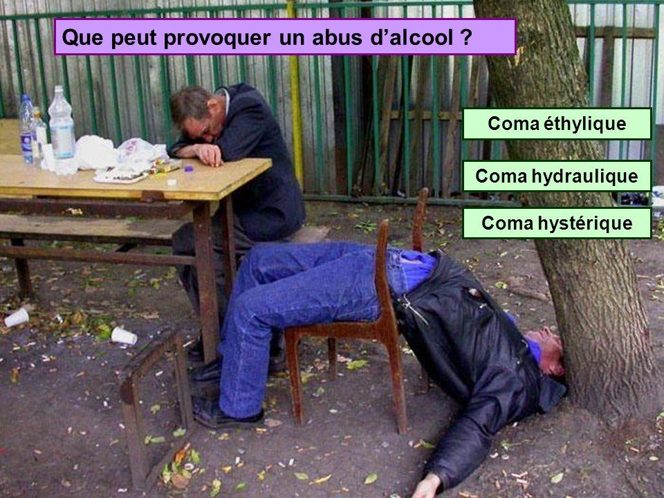 Que peut provoquer un abus d'alcool