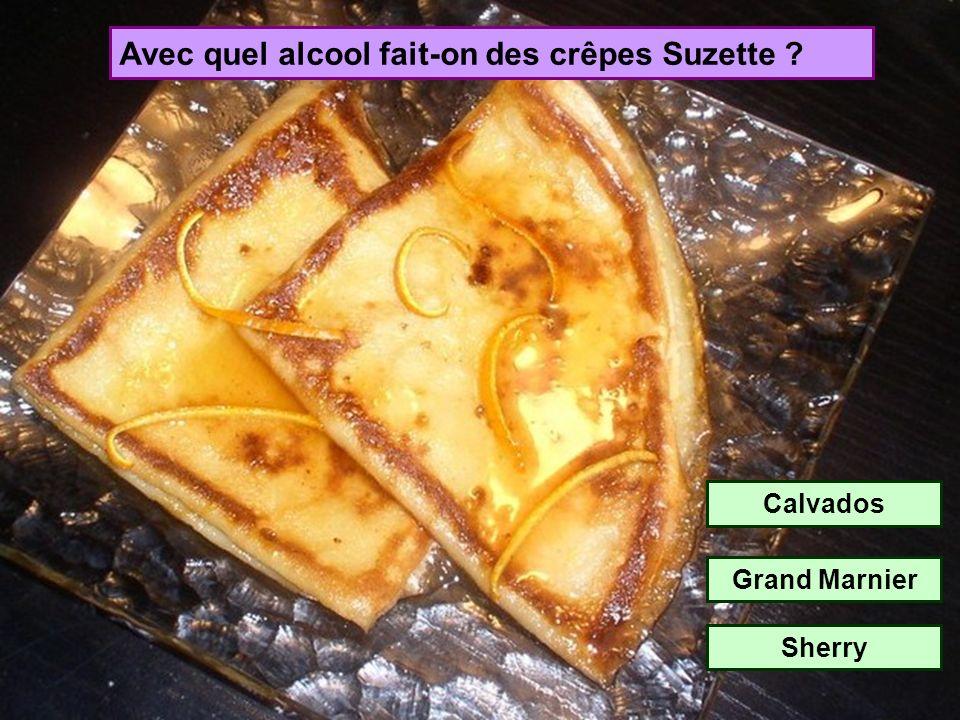 Avec quel alcool fait-on des crêpes Suzette
