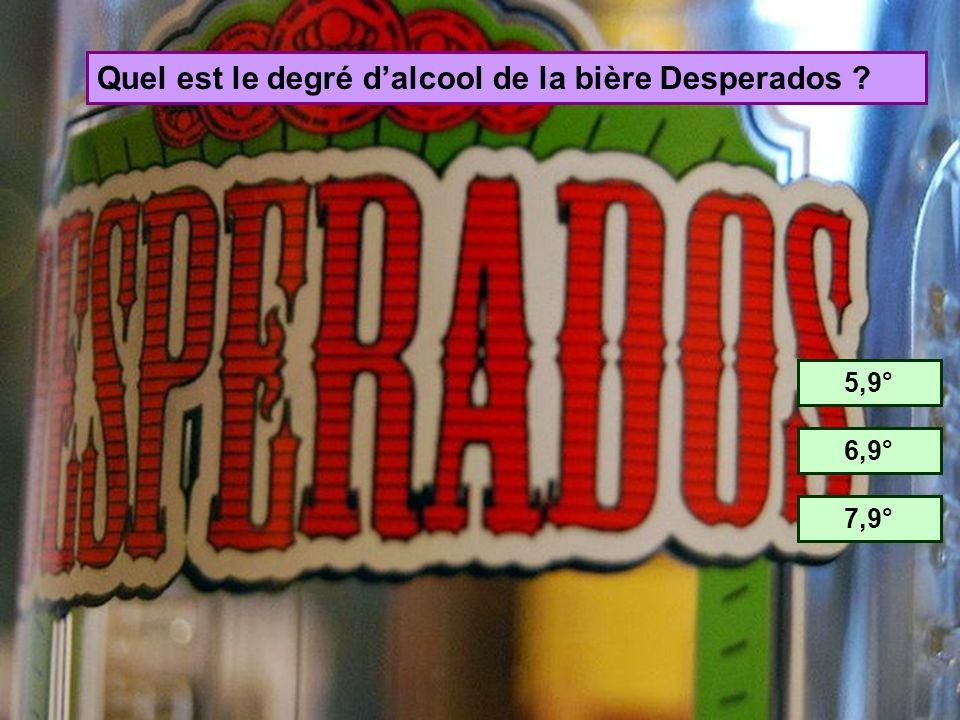 Quel est le degré d'alcool de la bière Desperados