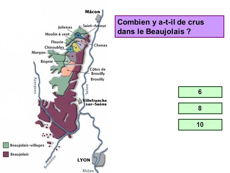 Combien y a-t-il de crus dans le Beaujolais
