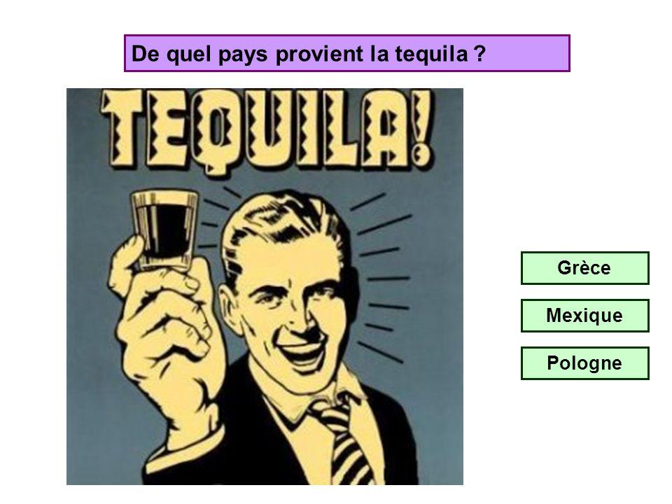 De quel pays provient la tequila