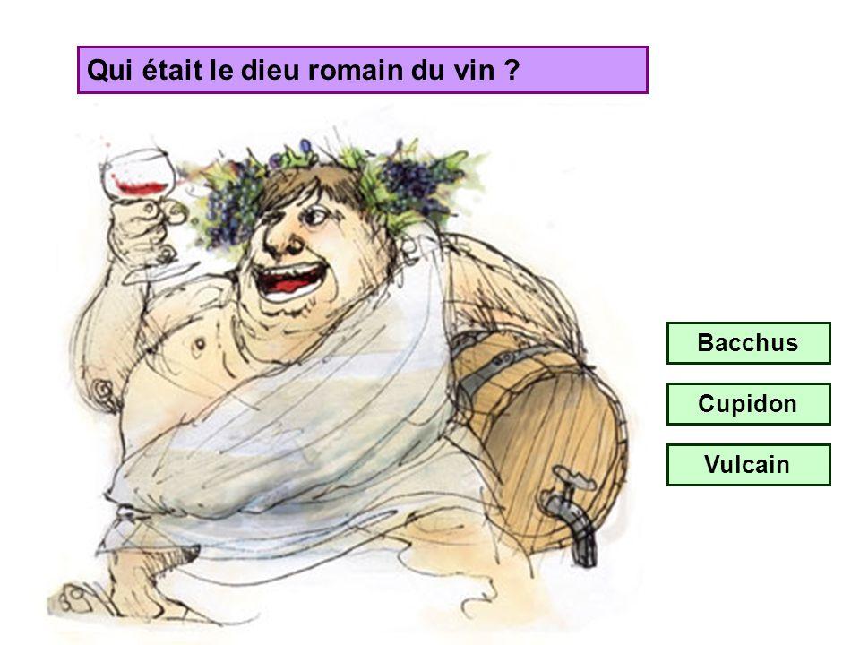 Qui était le dieu romain du vin