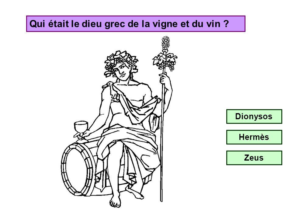Qui était le dieu grec de la vigne et du vin