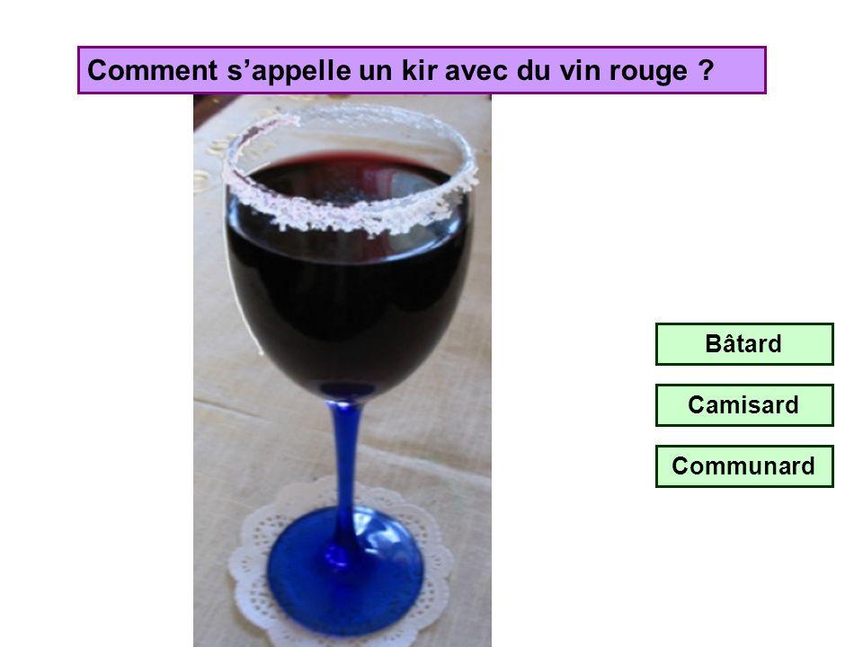 Comment s'appelle un kir avec du vin rouge