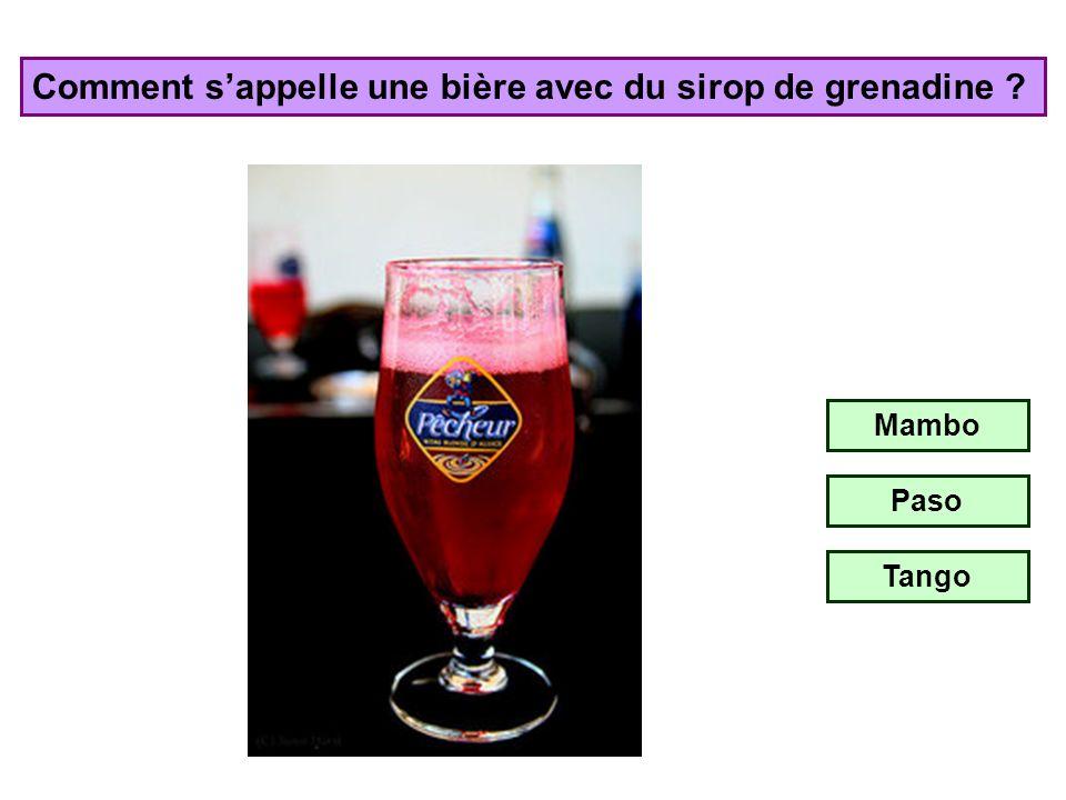 Comment s'appelle une bière avec du sirop de grenadine