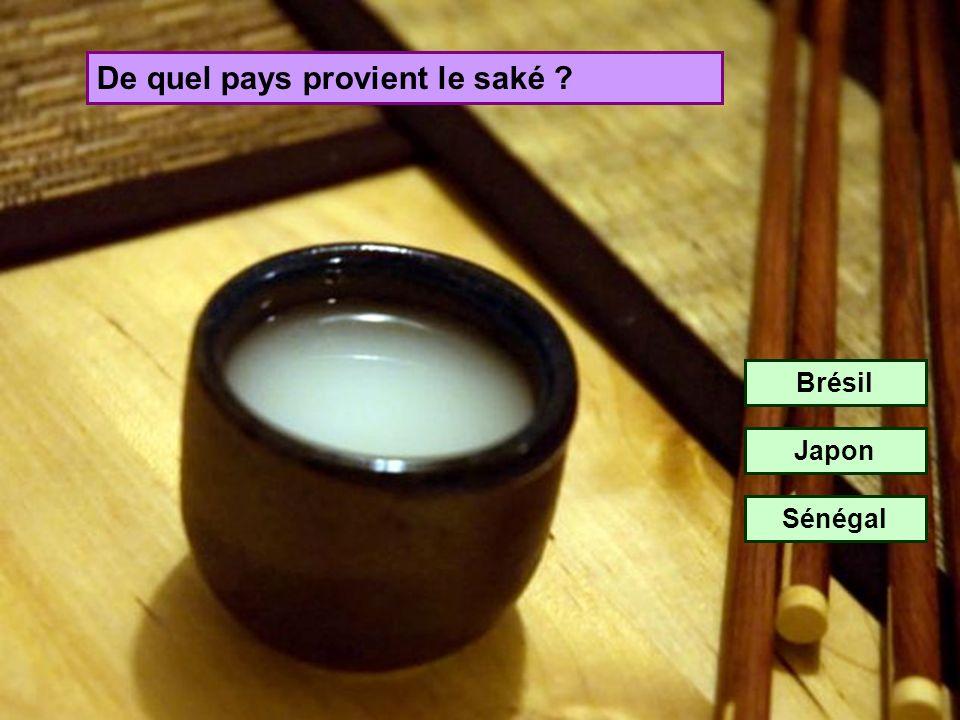 De quel pays provient le saké