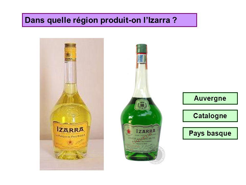 Dans quelle région produit-on l'Izarra