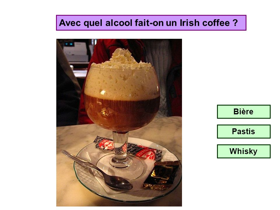 Avec quel alcool fait-on un Irish coffee