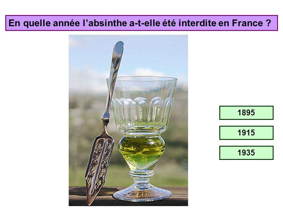 En quelle année l'absinthe a-t-elle été interdite en France