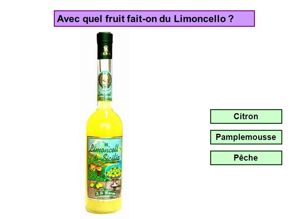 Avec quel fruit fait-on du Limoncello