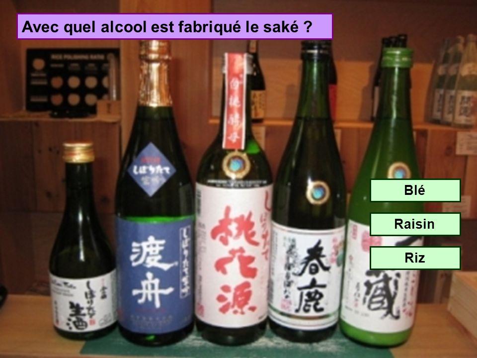 Avec quel alcool est fabriqué le saké